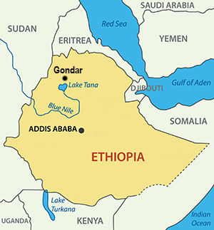 And Far Ethiopia Tour And Travel - Gondar map